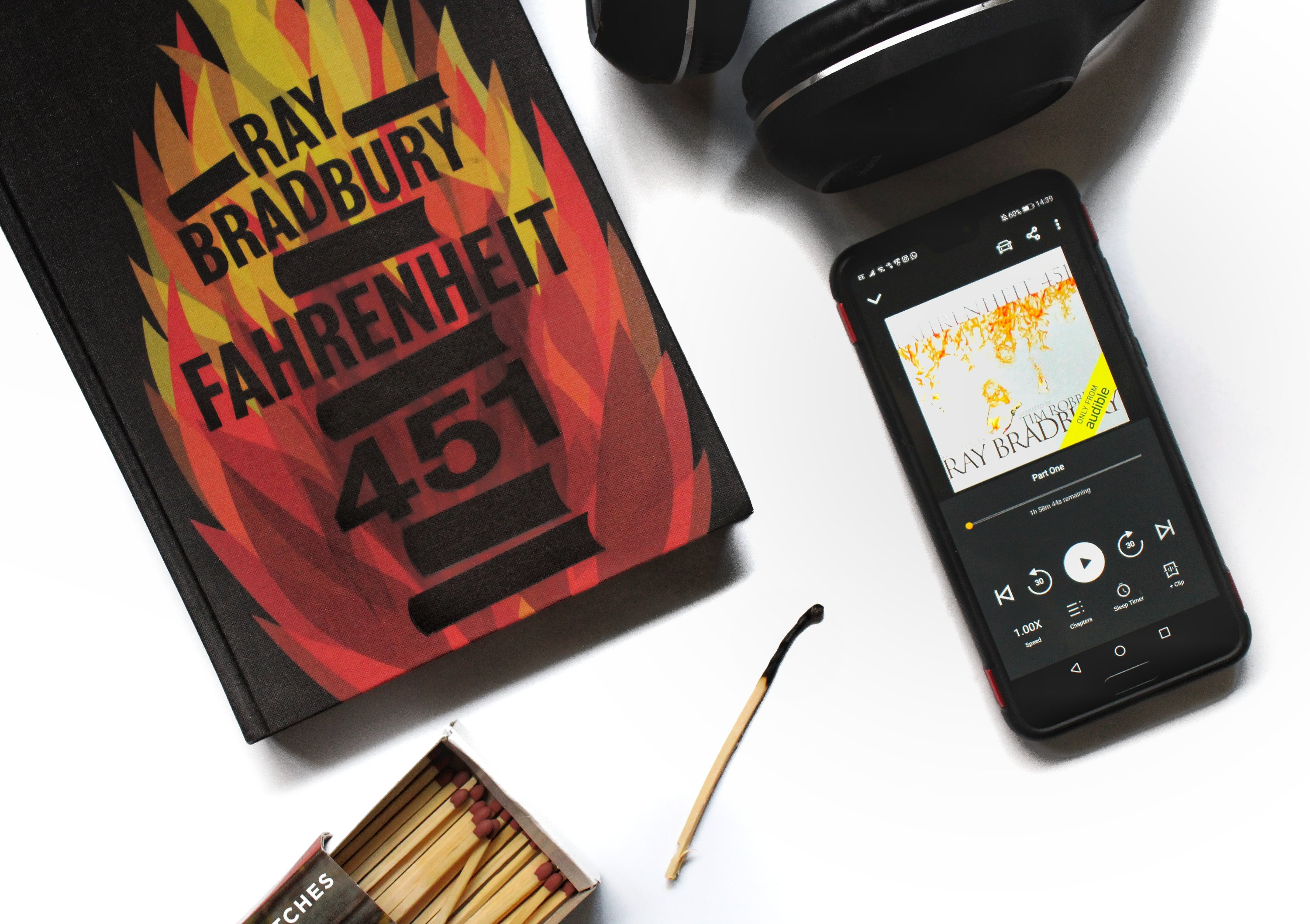 Audiobook of Fahrenheit 451 by Ray Bradbury
